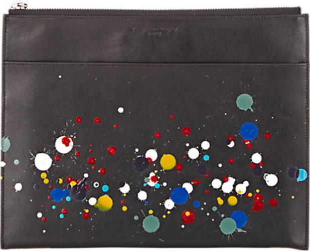 Maison Margiela Paint Splatter Medium Zip Pouch