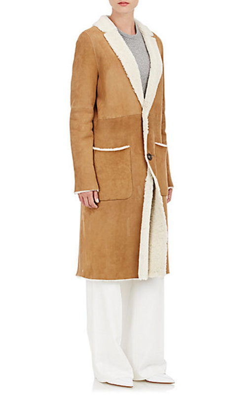 Tomorrowland Shearling Button-Front Coat