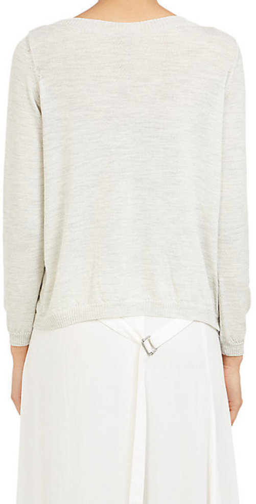 Ann Demeulemeester Asymmetric Pleat Sweater