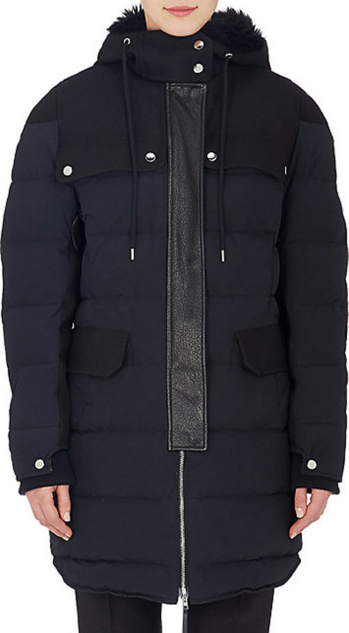 Marni Leather-Trimmed Hooded Puffer Coat