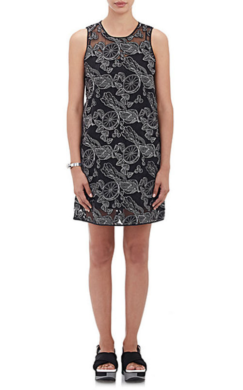 Opening Ceremony Laser-Cut A-Line Dress