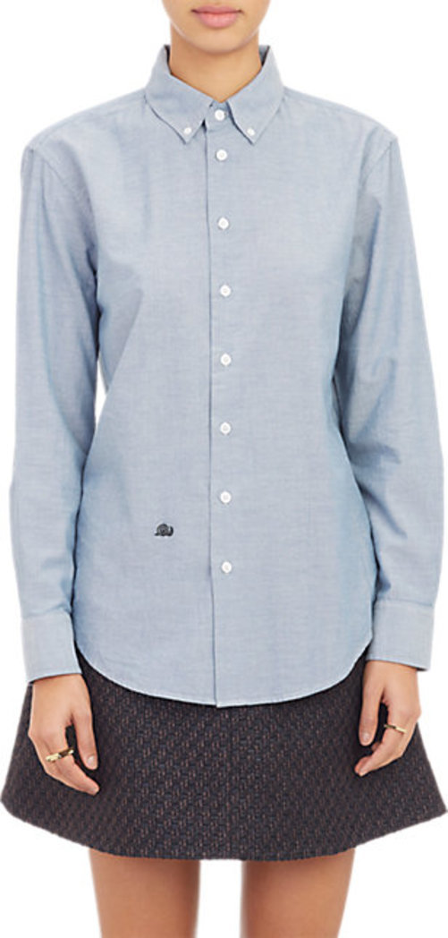 Band of Outsiders Cropped Oxford Shirt