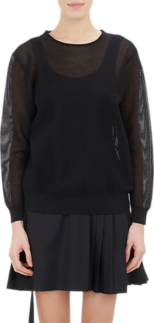 Tim Coppens Mesh Long-Sleeve Top