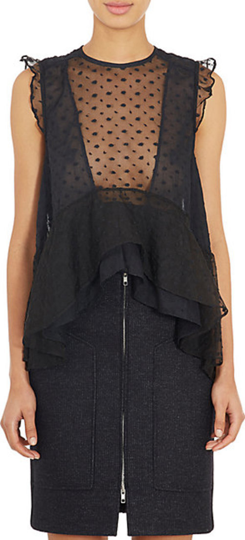 Isabel Marant Embroidered Organza Vatelle Blouse