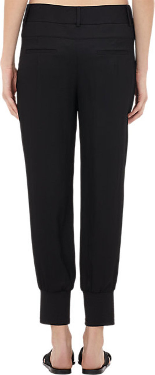Helmut Lang Slouchy Cove Band-Cuff Trousers