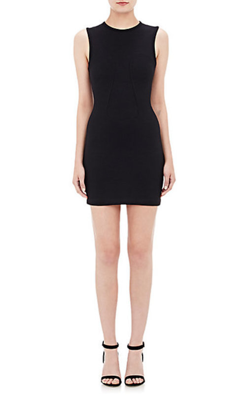 T by Alexander Wang Fitted Double-Knit Dress