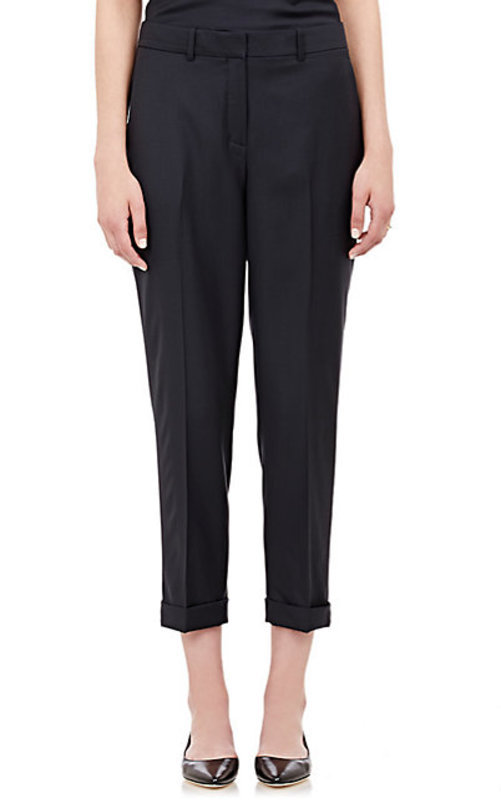 Theory Mustadio Wool Twill Crop Trousers