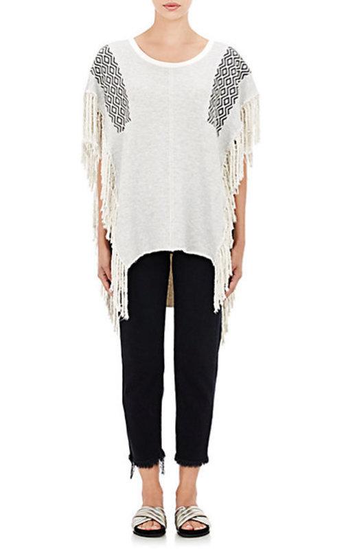NSF Fringed French Terry Poncho