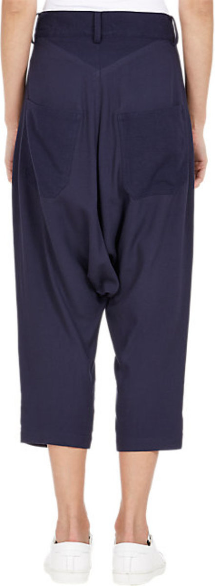 Regulation Yohji Yamamoto Drop-Rise Cropped Pants