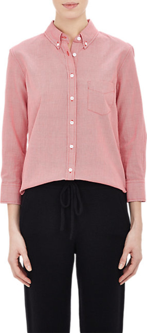 Band of Outsiders Cropped & Fitted Shirt