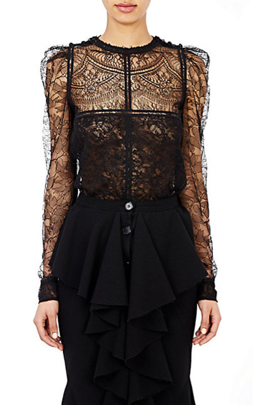 Givenchy Netted Lace Blouse