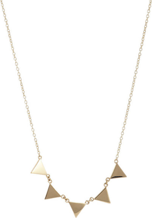 Jennifer Meyer Triangle Banner Necklace