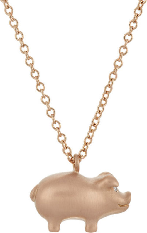 Finn Pig Pendant Necklace