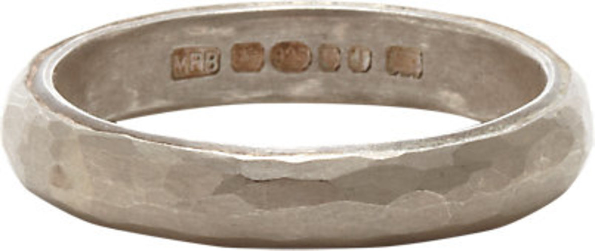 Malcolm Betts Hammered Silver Band