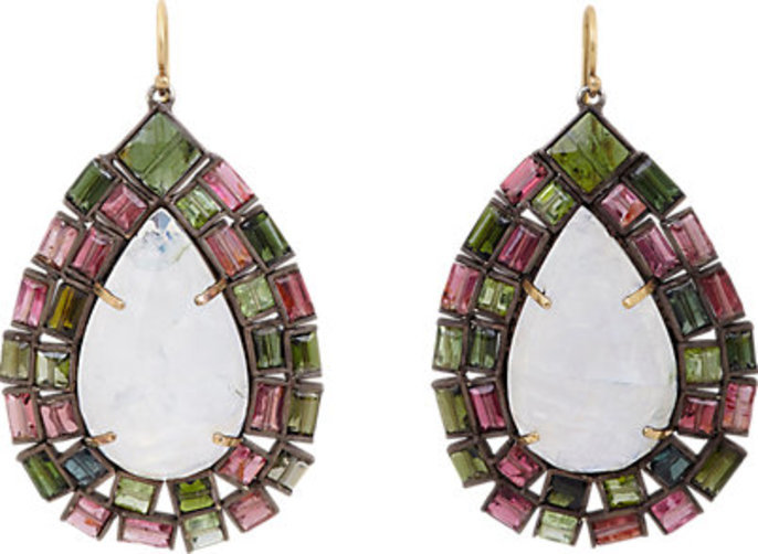 Nak Armstrong Gemstone Drop Earrings
