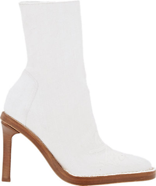 Ann Demeulemeester Embroidered Mid-Calf Boots