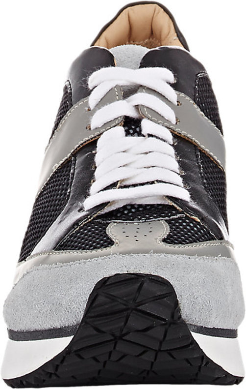 MM6 Maison Margiela Mixed-Material Platform Wedge Sneakers