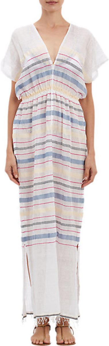 Lemlem Multi-Stripe Gauze Lelaga Coverup Dress