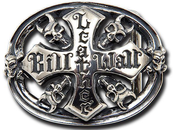 ビルウォールレザー BWL Bill Wall Leather BB110 デーモンスカル ベルトバックル BWL ロゴ シルバー カスタム