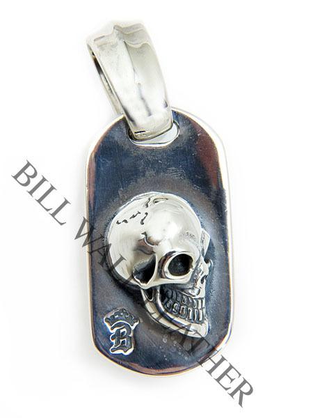 ビルウォールレザー Bail BWL Bill Wall Leather DT628 スムース ビンテージスカル カスタム DT628 Lg Bail Ltd.99 ペンダント ドッグタグ ペンダント ボールチェーン付き シルバー カスタム, Future 3D Printings:9c4dfe33 --- gamenavi.club