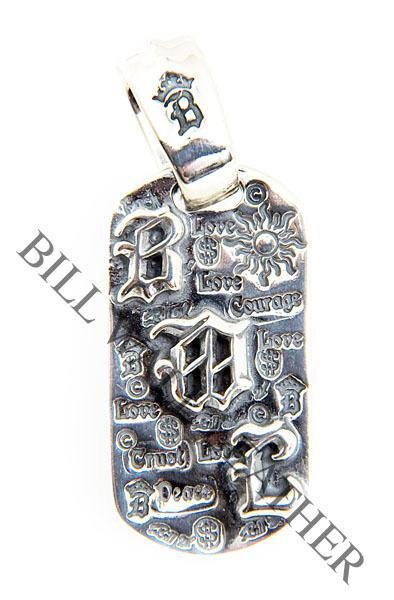 ビルウォールレザー BWL Bill Wall Leather DT630 BWLロゴ グラフィティ ドッグタグ ペンダント ボールチェーン付き シルバー カスタム