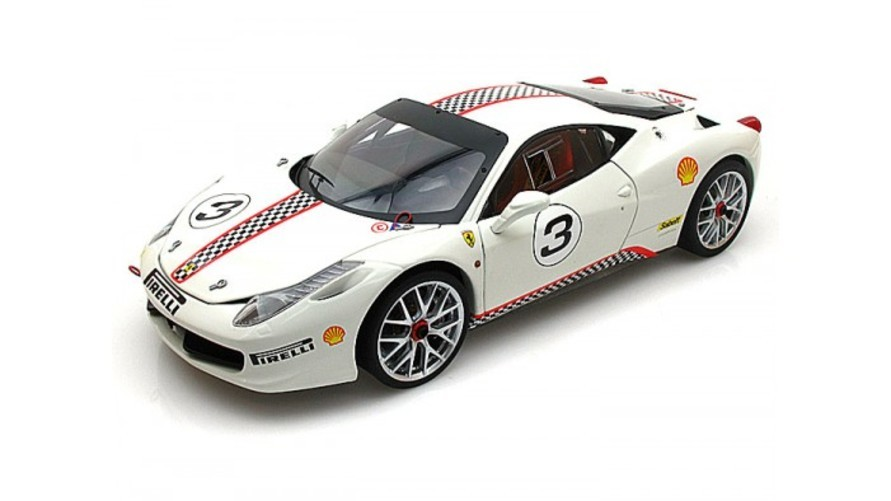 Hot Wheels Ferrari 458 Italia Challenge #3 Elite Edition 1 18 White おもちゃ 模型 ラジコン フィギュア