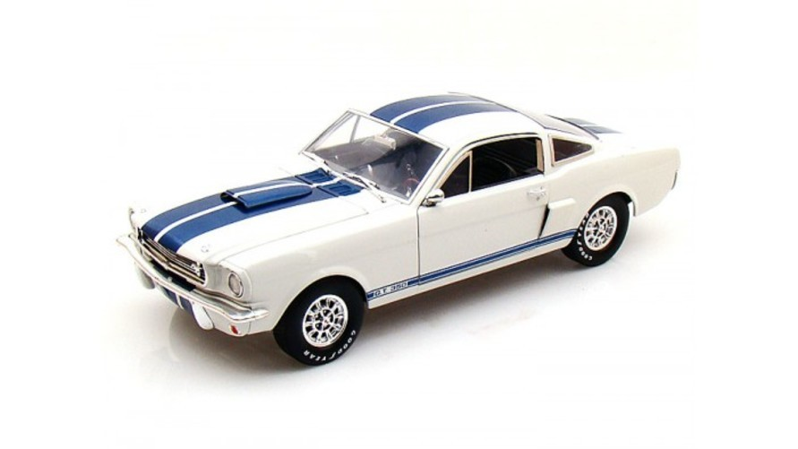 Shelby Collectibles 1966 Shelby GT 350 1 18 White w Blue Stripes おもちゃ 模型 ラジコン フィギュア