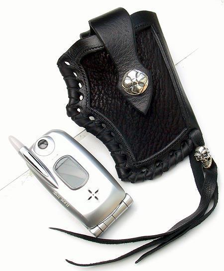 ビルウォールレザー BWL Bill Wall Leather CP100 カスタム シャークレザー クリップ 携帯ケース シルバー 携帯 ガラケー