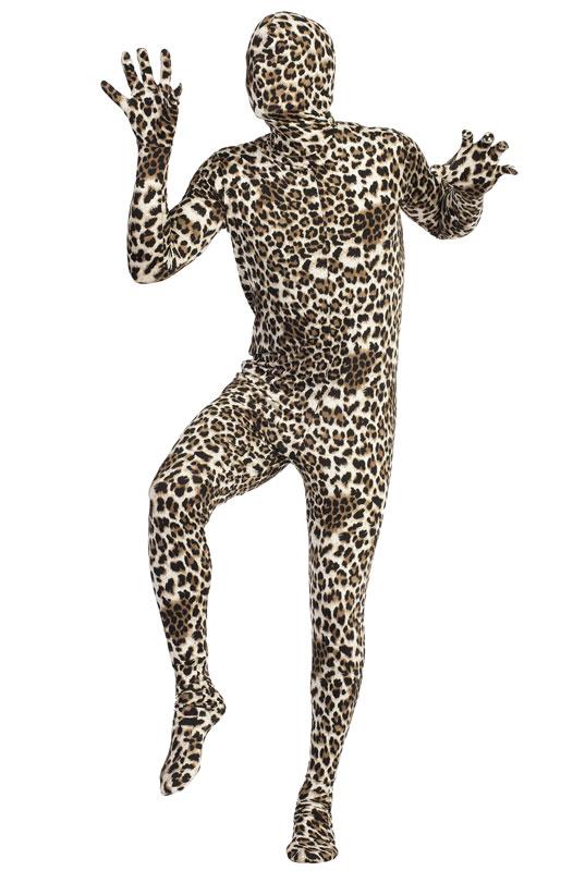 Leopard 全身タイツ スキンスーツ 爆笑 一発芸 大人用コスチューム ハロウィン コスプレ 衣装 仮装 大人用 面白い 学園祭 文化祭 学祭 大学祭 高校 イベント