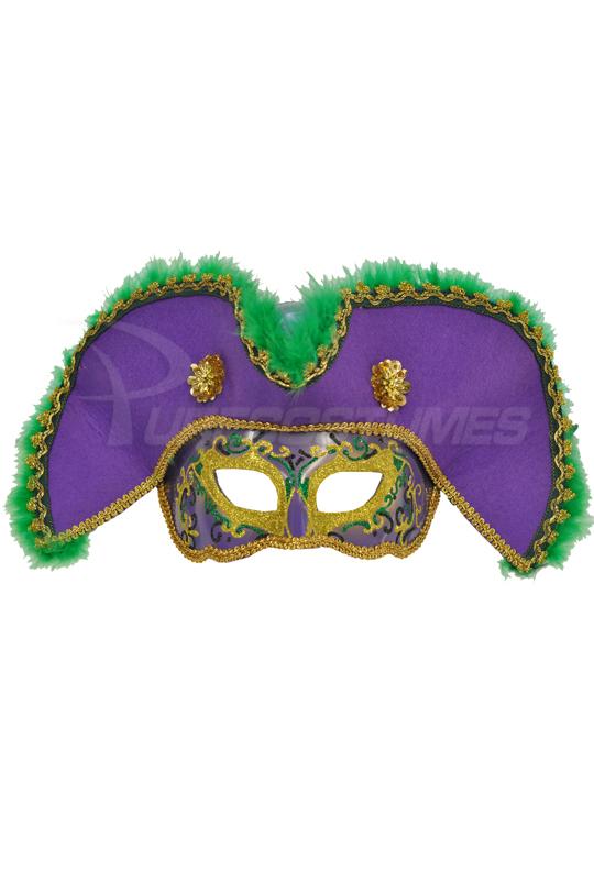 Male 海賊 Pirate Mask (Purple Green Gold) コスチューム ハロウィン コスプレ 衣装 仮装 大人用 面白い 海賊 学園祭 文化祭 学祭 大学祭 高校 イベント