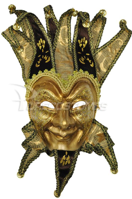 【ポイント最大29倍●お買い物マラソン限定!エントリー】Golden Age Jester Mask (Brown) コスチューム ハロウィン コスプレ 衣装 仮装 大人用 面白い 学園祭 文化祭 学祭 大学祭 高校 イベント