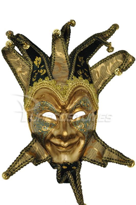 Golden Age Jester マスク (Blue) コスチューム ハロウィン コスプレ 衣装 仮装 大人用 面白い 学園祭 文化祭 学祭 大学祭 高校 イベント