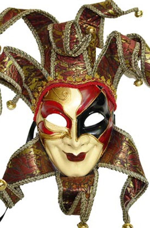 【ポイント最大29倍●お買い物マラソン限定!エントリー】Royal Court Jester Mask (Red) コスチューム ハロウィン コスプレ 衣装 仮装 大人用 面白い 学園祭 文化祭 学祭 大学祭 高校 イベント