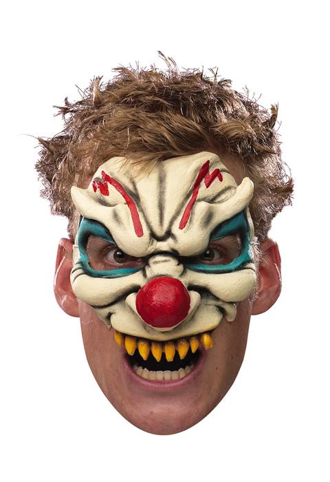 Evil Clown Adult Vinyl Chinless Mask コスチューム ハロウィン コスプレ 衣装 仮装 大人用 面白い ホラー 怖い 学園祭 文化祭 学祭 大学祭 高校 イベント