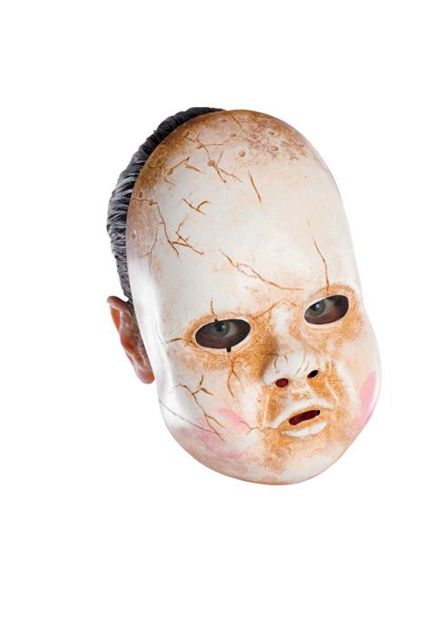 【ポイント最大29倍●お買い物マラソン限定!エントリー】Baby Doll Adult Vinyl Mask コスチューム ハロウィン コスプレ 衣装 仮装 大人用 面白い ホラー 怖い 学園祭 文化祭 学祭 大学祭 高校 イベント