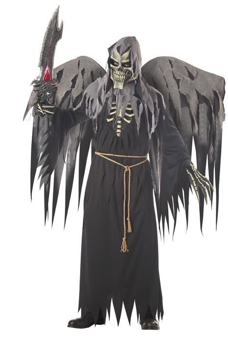 Angel of Death (with Wings) 大人用コスチューム ハロウィン コスプレ 衣装 仮装 大人用 面白い ホラー 怖い 学園祭 文化祭 学祭 大学祭 高校 イベント