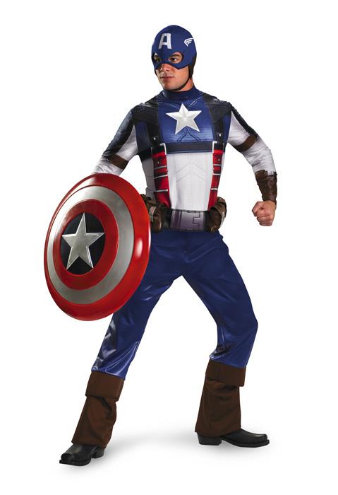 キャプテンアメリカ キャプテン・アメリカ マーベルヒーローズ Marvel Captain America Movie デラックス Adult コスチューム ハロウィン コスプレ 衣装 仮装 大人用 面白い 学園祭 文化祭 学祭 大学祭 高校 イベント