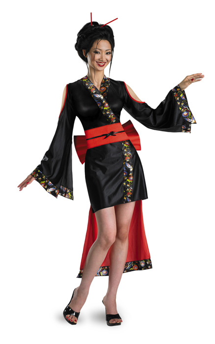Lotus Flower Geisha 大人用コスチューム ハロウィン コスプレ 衣装 仮装 大人用 面白い 学園祭 文化祭 学祭 大学祭 高校 イベント