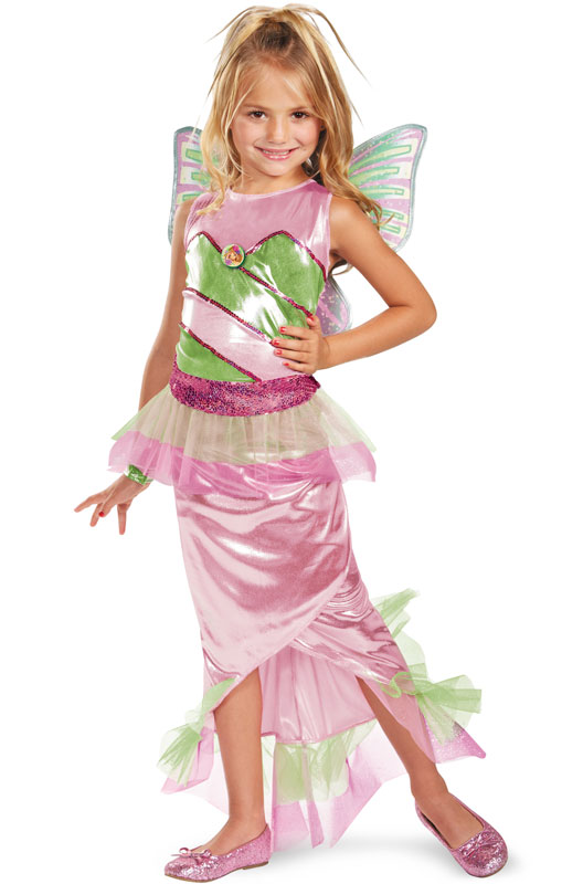 Winx Club Flora Mermaid デラックス 子供用コスチューム ハロウィン コスプレ 衣装 仮装 男の子 女の子 子供 小学生 かわいい 面白い 妖精 Fairy 学園祭 文化祭 学祭 大学祭 高校 イベント