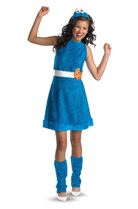Sesame Street セサミストリート クッキーモンスター Plush Tween コスチューム クリスマス ハロウィン コスプレ 衣装 仮装 男の子 女の子 子供 小学生 かわいい 面白い 食べ物 かぼちゃ 飲み物 学園祭 文化祭 学祭 大学祭 高校 イベント