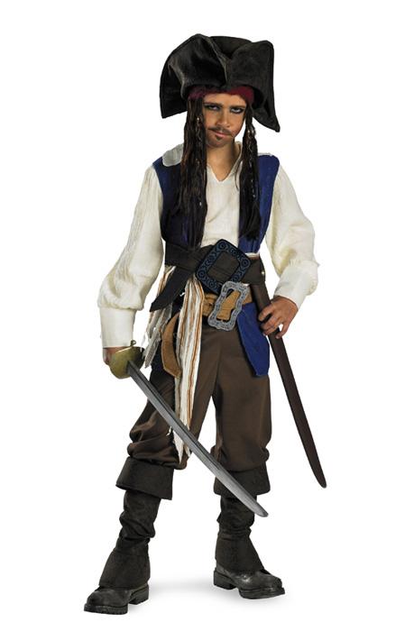 コスプレ ハロウィン ジャックスパロウ パイレーツオブカリビアン  Pirates of the Caribbean Captain Jack Sparrow デラックス 子供用 衣装 男の子 女の子 小学生 かわいい 面白い 学園祭 文化祭 大学祭 コスチューム 仮装 変装