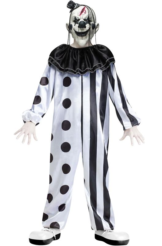 Crazy Killer Clown 子供用コスチューム ハロウィン コスプレ 衣装 仮装 男の子 女の子 子供 小学生 かわいい 面白い ホラー 怖い 学園祭 文化祭 学祭 大学祭 高校 イベント