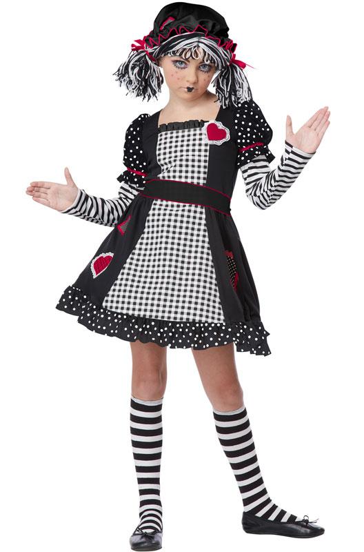 Gothic Rag Doll 子供用コスチューム クリスマス ハロウィン コスプレ 衣装 仮装 男の子 女の子 子供 小学生XuOkTZPi
