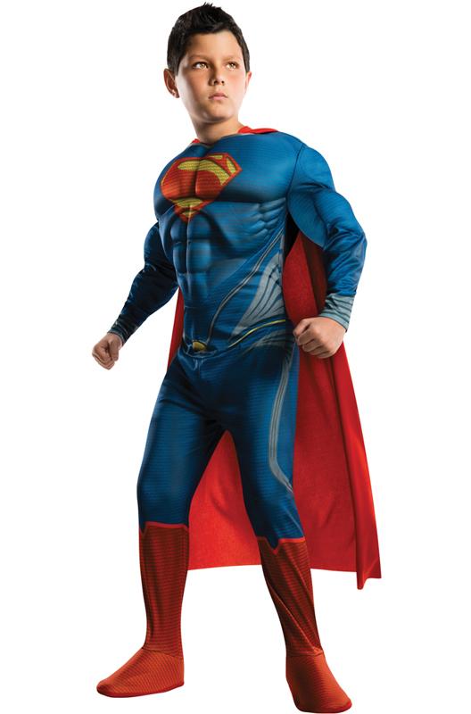 【ポイント最大29倍●お買い物マラソン限定!エントリー】スーパーマン Man of Steel デラックス Superman 子供用コスチューム ハロウィン コスプレ 衣装 仮装 男の子 女の子 子供 小学生 かわいい 面白い ヒーロー 学園祭 文化祭 学祭 大学祭 高校 イベント