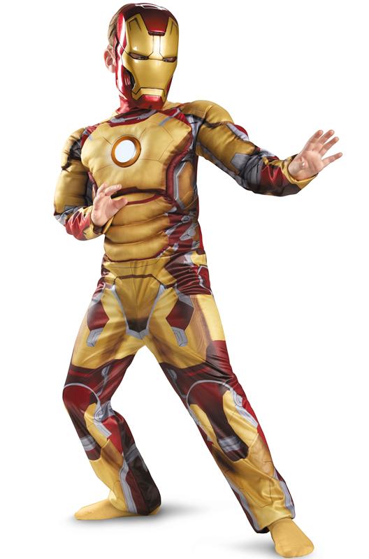 2点セット!!映画 アイアンマン アベンジャーズ マーベルヒーローズ マーク42 LEDが光る!!子供用 コスチューム クリスマス ハロウィン コスプレ 衣装 仮装 男の子 子供 小学生 かわいい 面白い ヒーロー ベント