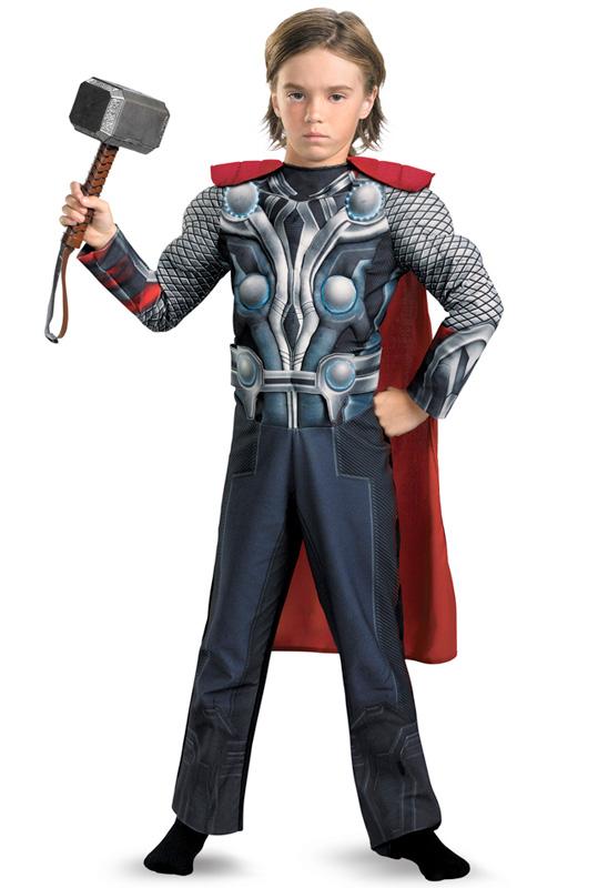 【全品P5倍】アベンジャーズ Marvel Avengers Movie Thor Muscle Light-Up 子供用コスチューム ハロウィン コスプレ 衣装 仮装 男の子 女の子 子供 小学生 かわいい 面白い ヒーロー 学園祭 文化祭 学祭 大学祭 高校 イベント