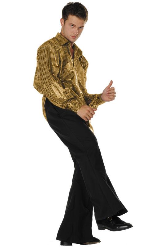 【ポイント最大29倍●お買い物マラソン限定!エントリー】ディスコ Disco サタデーナイトフィーバー Inferno Costume (Gold) コスチューム ハロウィン コスプレ 衣装 仮装 大人用 面白い 大きいサイズ ビッグサイズ 学園祭 文化祭 学祭 大学祭 高校 イベント