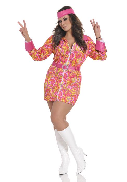 Retro Hippie コスチューム クリスマス ハロウィン コスプレ 衣装 仮装 大人用 面白い 大きいサイズ ビッグサイズ 学園祭 文化祭 学祭 大学祭 高校 イベント