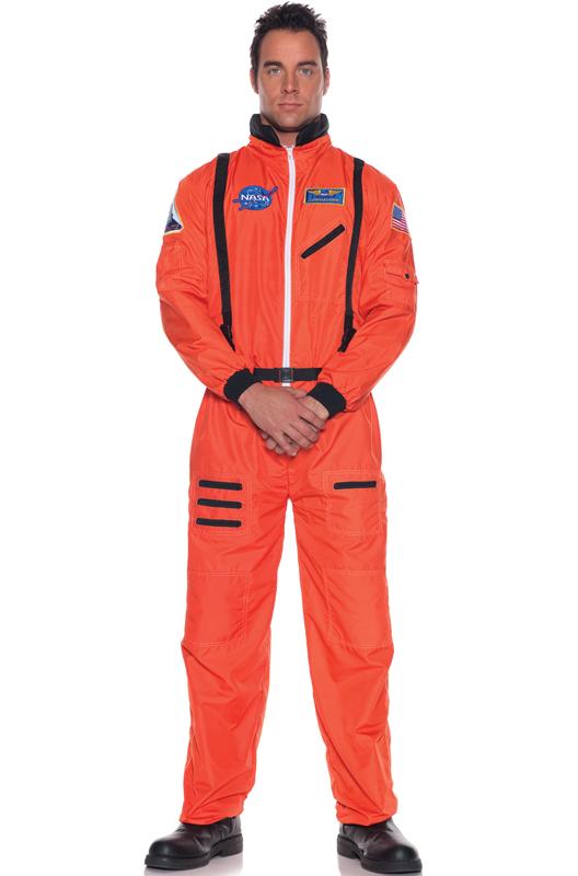Aerospace Astronaut Costume (Orange) コスチューム ハロウィン コスプレ 衣装 仮装 大人用 面白い 大きいサイズ ビッグサイズ 学園祭 文化祭 学祭 大学祭 高校 イベント