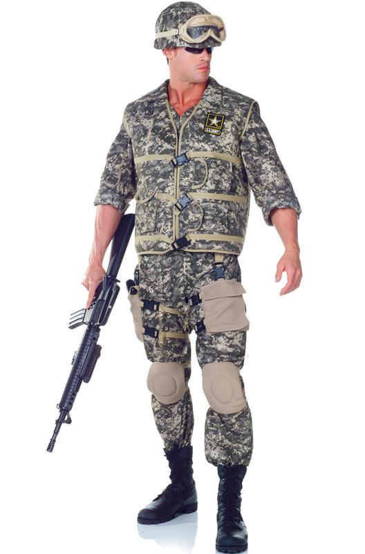 デラックス US Army Ranger コスチューム ハロウィン コスプレ 衣装 仮装 大人用 面白い 大きいサイズ ビッグサイズ 学園祭 文化祭 学祭 大学祭 高校 イベント